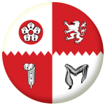 Leicestershire County Flag 25mm Pin Button Badge